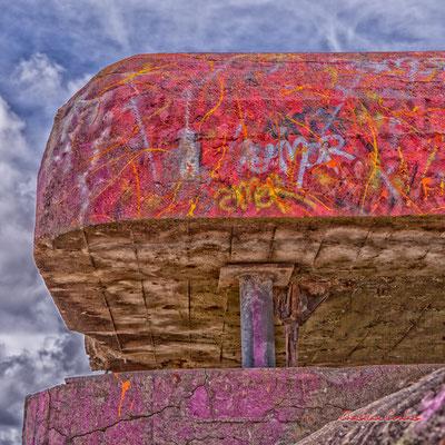 """""""Usure du temps 1"""" Bunker, batterie des Arros, mur de l'Atlantique, Soulac-sur-Mer. Samedi 3 juillet 2021. Photographie © Christian Coulais"""