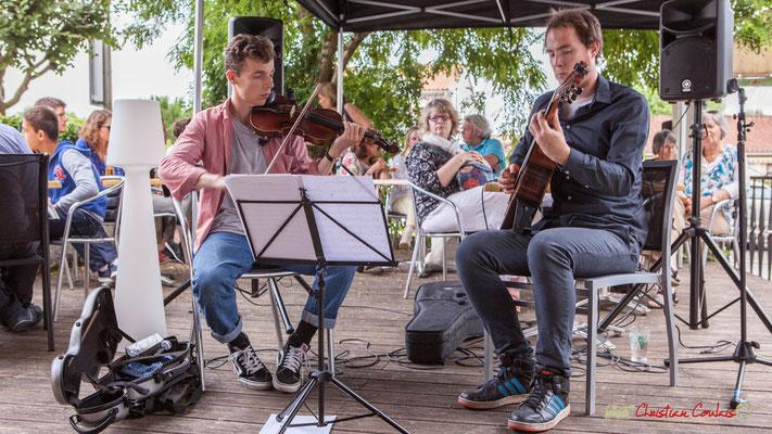 Pierre Meunier, Nicolas Allard; Duo2 Source. Festival JAZZ360 2018, restaurant les Acacias, Cénac. 09/06/2018