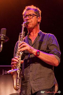 Fred Pouget, clarinette alto métal; Clax Quartet. Festival JAZZ360 2018, Cénac. 09/06/2018
