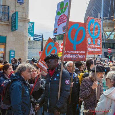 """""""Radis Béglais Insoumis"""" Manifestation du 1er mai 2017, avec la France Insoumise, cours d'Albret, Bordeaux"""