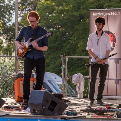 Solo de Théo Duboule, Clément Meunier; Oggy & The Phonics. Festival JAZZ360 2018, Langoiran. 07/06/2018