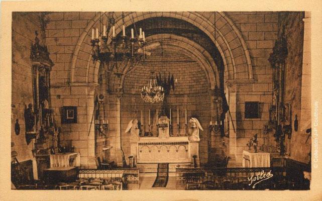 Intérieur de l'église Saint-André 1939. Cénac d'antan. Collection Jean-Pierre Couthouis