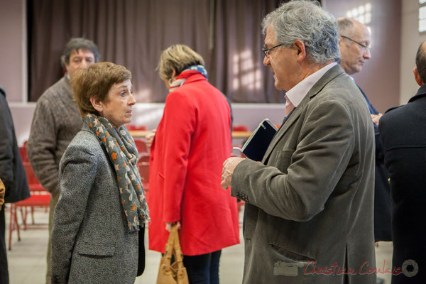 Françoise Immer, Adjointe au Maire de Pompignac; Denis Lopez, Maire de Pompignac