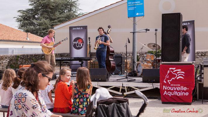 Premier quintet des ateliers jazz du conservatoire Jacques Thibaud. Festival JAZZ360, Quinsac. 10/06/2018