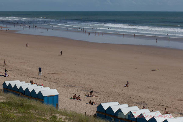 Cabines de plage, Promenade Marie Tsvetaieva, Saint-Gilles-Croix-de-Vie, Vendée, Pays de la Loire