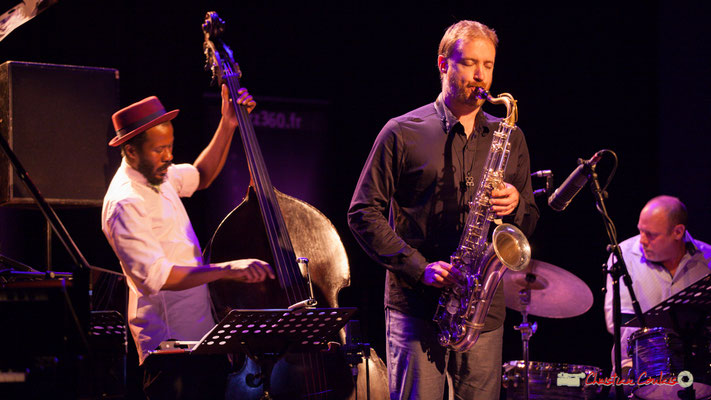 Joe Sanders, David Prez, Jeff Ballard; Vincent Bourgeyx Quartet. Festival JAZZ360 2018, Cénac. 09/06/2018