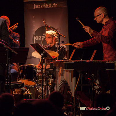 Karl Jannuska, David Patrois; Medium Ensemble 3 de Pierre de Bethmann. Festival JAZZ360 2019, Cénac. 07/06/2019