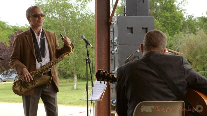 Alex Golino, David Blenkhorn; Alex Golino & David Blenkhorn Quartet, Festival JAZZ360 2012, château Roquebrune, Cénac, samedi 9 juin 2012