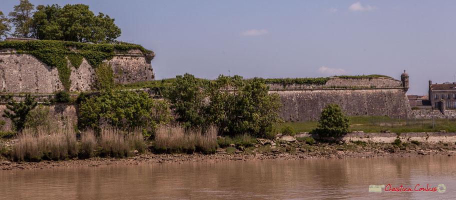 La citadelle de Blaye forme un vaste ensemble fortifié entouré de courtines, complété par quatre bastions et trois demi-lunes. 06/05/2018
