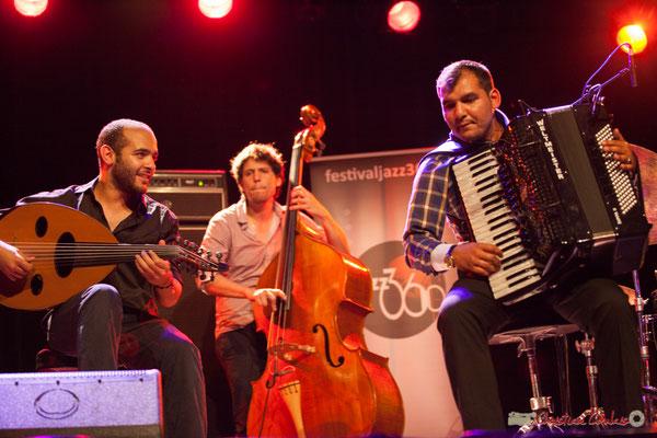 Eym Trio; Mohamed Abozekry, Yann Phayphet, Marian Badoï. Festival JAZZ360, Cénac, 09/06/2017
