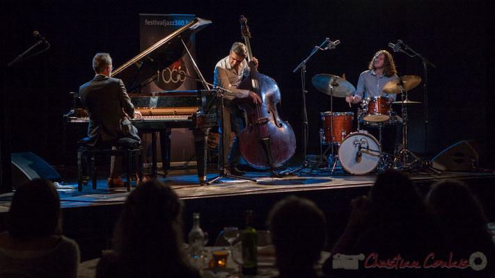 Trio Marcelle, Cédric Jeanneaud, Laurent Vanhée, Jéricho Ballan. Soirée Cabaret JAZZ360, Cénac. Photographie : Christian Coulais