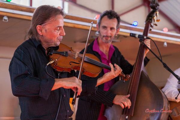 Bubu Boirie, Jérôme Bertrand; Romano Dandies. Festival Ouvre la voix, Frontenac, samedi 4 septembre 2021. Photographie © Christian Coulais