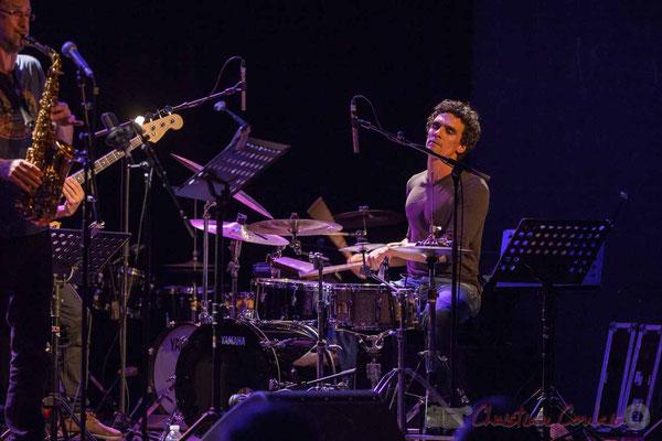 Le Jardin Quartet : Julien Dubois, saxophone / Gaétan Diaz, batterie. Festival JAZZ360 2016
