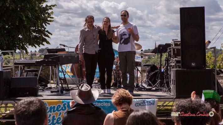 Loïc Cavadore, Nolwenn Leizour, Simon Pourbaix; Loïc Cavadore Trio. Festival JAZZ360 2019, Camblanes-et-Meynac. 08/06/2019