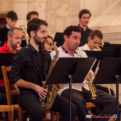 Alexandre Aguilera, Mathis Polack; Big Band Jazz du conservatoire de Bordeaux Jacques Thibaud. Festival JAZZ360 2018, Cénac. 09/06/2018