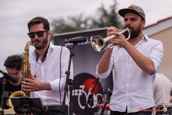 François-Marie Moreau, Pierre-Jean Ley; Shob & Friends. Festival JAZZ360 2018, Quinsac. 10/06/2018