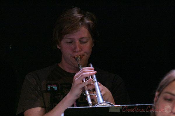 Trompettiste, Big Band du Conservatoire Jacques Thibaud, section MMA. Festival JAZZ360, Cénac. 03/06/2011