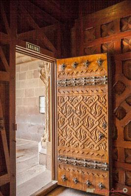 Détail de la porte d'entrée à la basilique de Javier, Navarre / Detalle de la puerta de entrada a la Basílica de Javier, Navarra