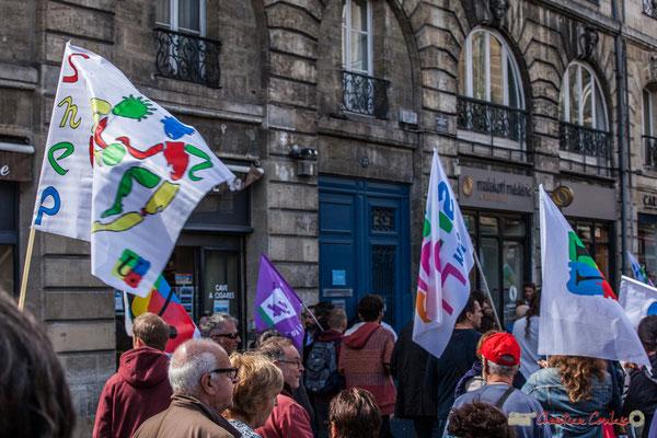 SNEP Manifestation contre la réforme du code du travail. Place Gambetta, Bordeaux, 12/09/2017