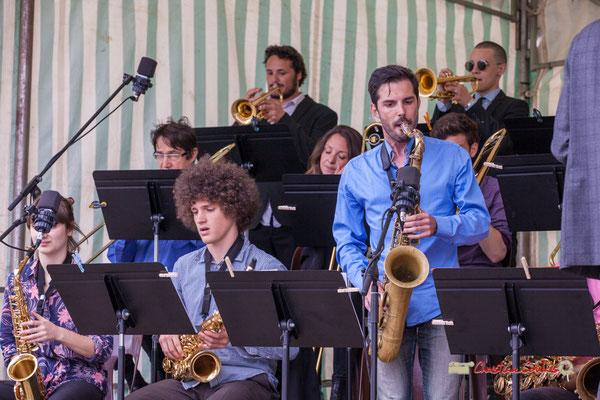 Pierre Thiot, Julien Deforges; Big Band du Conservatoire Jacques Thibaud. Festival JAZZ360 2019, parc du château de Pomarède, Langoiran. 06/06/2019