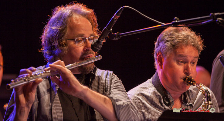 Stéphane Guillaume, Sylvain Beuf; Medium Ensemble 3 de Pierre de Bethmann. Festival JAZZ360 2019, Cénac. 07/06/2019