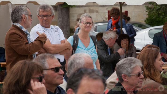 Dom Imonk, d'Action Jazz, Richard et Marie Raducanu de Jazz360. Quinsac, 12/06/2016