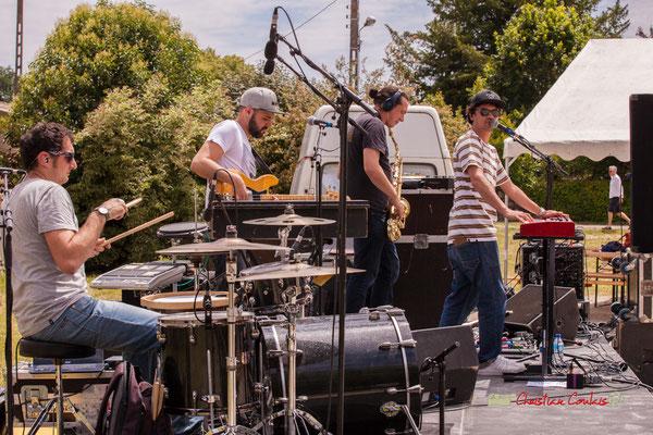 Guillaume Brissiaud, Victor Bérard, Vincent Lefort, Olivier Lerole; The Protolites. Festival JAZZ360 2019, Quinsac. 09/06/2019