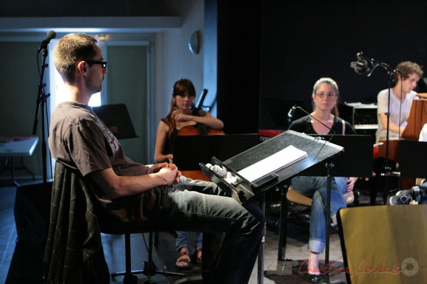 Direction : Julien Dubois. Répétition du Conservatoire Jacques Thibaud, section MMA. Festival JAZZ360, Les coulisses du Festival à Cénac. 03/06/2011