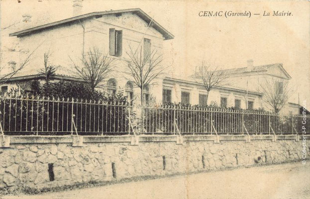 Mairie-Ecole 1906. Cénac d'antan. Collection Jean-Pierre Couthouis