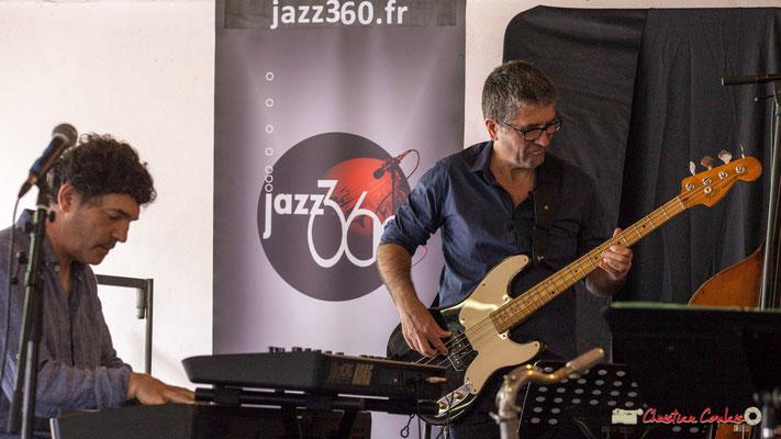 Serge Moulinier, Christophe Jodet; Serge Moulinier Quintet. Festival JAZZ360 2018, Camblanes-et-Meynac. 09/06/2018
