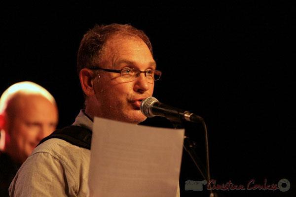 """Francis Mounier """"Vous connaissez l'histoire du dindon de la farce ?""""; Fédération Française de Baryton (FFB), Festival JAZZ360 2011, Cénac. 05/06/2011"""