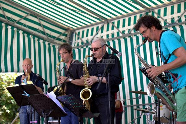 Festival JAZZ360 2014, Alain Duffort, Thierry Taveaux, Rémy Brown, Grat Martinez; Jazzméléon Trafic. Cénac, 07/06/2014