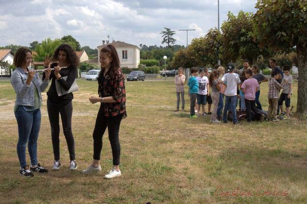 La classe Jazz du Collège de Monségur côtoie les classes primaires de l'école du Tourne. Festival JAZZ360, Cénac, 12/06/2015