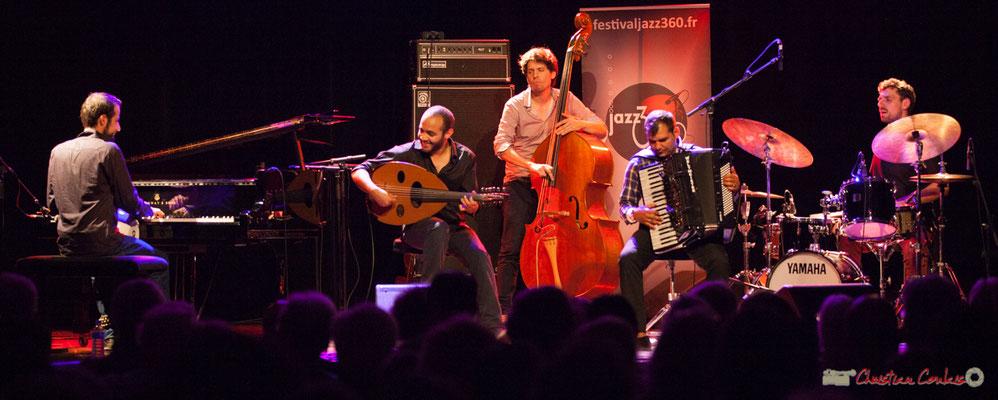 Eym Trio; Elie Dufour, Mohamed Abozekry, Yann Phayphet, Marian Badoï, Marc Michel. Festival JAZZ360, Cénac, 09/06/2017