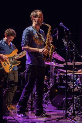 Le Jardin Quartet : Ouriel Ellert, basse / Julien Dubois, saxophone. Festival JAZZ360 2016