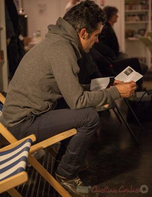 Guillaume Thevenin, ingénieur du son Studio d'enregistrement Cryogène. Le Rocher de Palmer, 12/12/2015. Reproduction interdite - Tous droits réservés © Christian Coulais