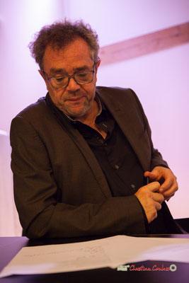 Jacques Desbordes, passeur d'histoires; Bar-restaurant le BREC à Créon, mardi 22 octobre 2019