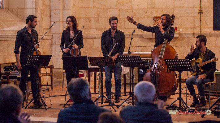 Bastien Ribot, Aude-Marie Duperret, Maxime Berton, François Poitou, Federico Casagrande; François Poitou Quintet. Festival JAZZ360 2019, Cénac. 07/06/2019
