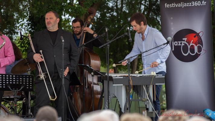 Alexis Valet Quartet : Sébastien Arruti, Aurélien Gody, Alexis Valet. Festival JAZZ360 2016, Quinsac, 12/06/2016