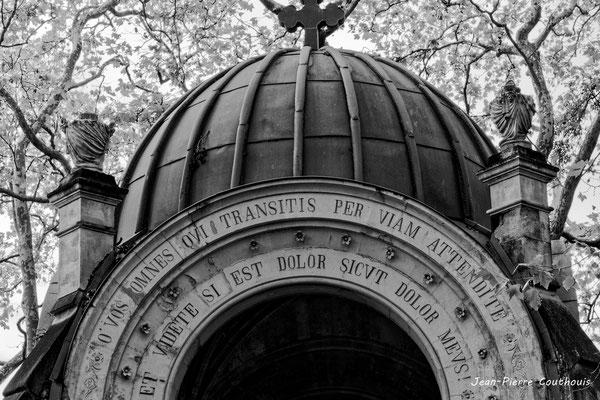 La chapelle du Saint-Sépulcre (détail). 28/09/2019. Photographie © Jean-Pierre Couthouis