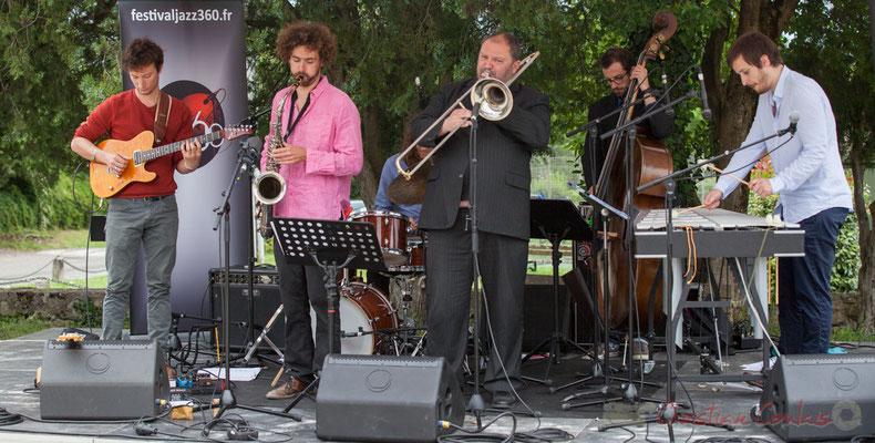 Alexis Valet Quartet : Yori Moy, Brice Matha, Sébastien Arruti, Aurélien Gody, Alexis Valet. Festival JAZZ360 2016, Quinsac
