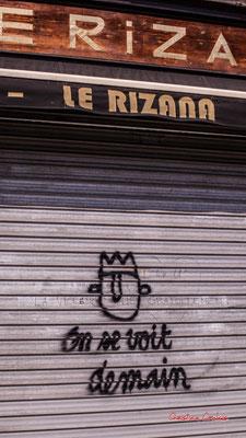 """""""Bar fermé COVID-19 - On se voit demain"""" Rue Clare, Bordeaux. Samedi 6 mars 2021. Photographie © Christian Coulais"""