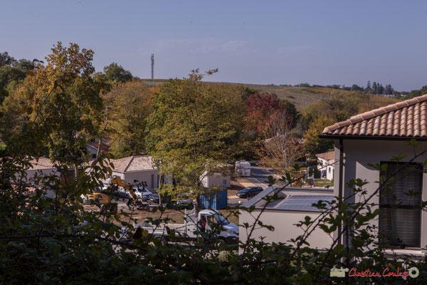 Panorama au dessus du Clos Lamothe, à gauche vers Latresne. Allée Lamothe, Cénac, Gironde. 16/10/1017
