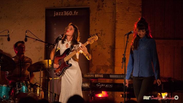 Nicolas Girardi, Laure Sanchez, Caroline Turtaut; Laure Sanchez Quintet, JAZZ360 au Domaine de Sentout, Lignan-de-Bordeaux. 08/09/2018