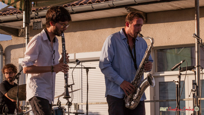 Clément Meunier, Louis Billette; Oggy & The Phonics. Festival JAZZ360 2018, Langoiran. 07/06/2018