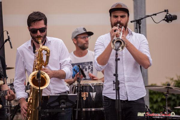 François-Marie Moreau, Ludo Lesage, Pierre-Jean Ley; Shob & Friends. Festival JAZZ360 2018, Quinsac. 10/06/2018