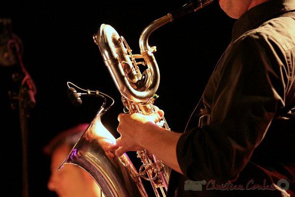 Saxophone baryton de Guillaume Schmidt; Fédération Française de Baryton (FFB), Festival JAZZ360 2011, Cénac. 05/06/2011