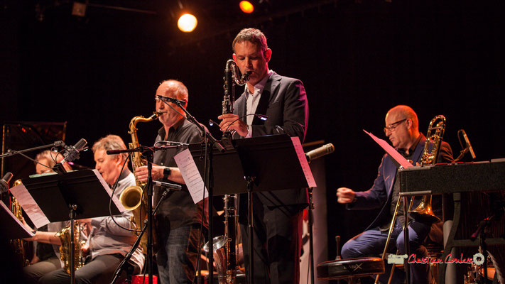 David El-Malek, Thomas Savy, Denis Leloup; Medium Ensemble 3 de Pierre de Bethmann. Festival JAZZ360 2019, Cénac. 07/06/2019