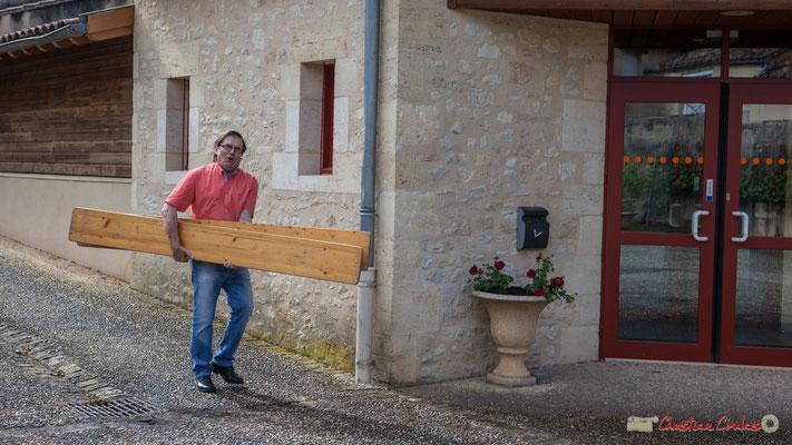 Alain Darmian, réalisateur de Entre-Deux-Mers Web TV. 14 mai 2017, Blasimon