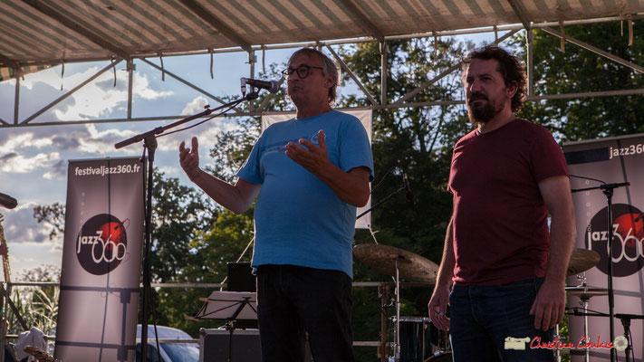 Richard Raducanu donne aussi un aperçu du programme qui se déroule dans 4 autres communes. Festival JAZZ360 2018, Parc Pomarède, Langoiran. 07/06/2018